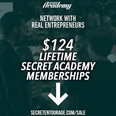 Who are you spending your time with? If you don't have a mastermind group that meets on a weekly basis create one. In person online through the #secretacademy whatever. but have one. Gain different perspectives. Learn from people with more experience than you. It will help you win. If you need one memberships to our Academy are on sale until MIDNIGHT at the link in our bio and every day you will find all kinds of motivational inspirational and educational FIRE from the members of our private…