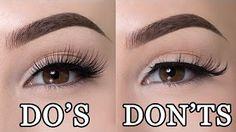 How to put on false eyelashes TRICK - YouTube