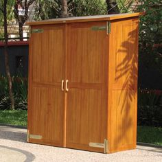 Outdoor Garden Storage Cabinets - Everyone wants storage cabinets. I think it is important to have some kind of storage cupb Garden Storage Cabinet, Wood Storage Cabinets, Garden Tool Storage, Shed Storage, Cupboards, Linen Storage, Grey Cabinets, Storage Shelves, Kitchen Cabinets