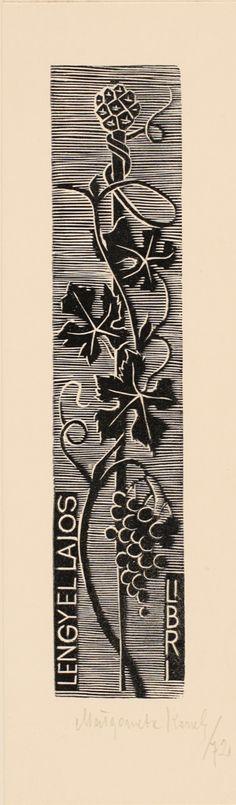 Ex-líbros de Lajos Lengyellajos, desenhado por Malgorzata Korolko (1972).