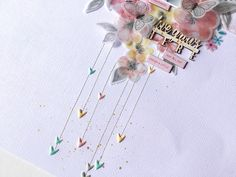 Close up of the Scrapbooking Layout using the lovely vellum flowers from the More then Words range by Cocoa Vanilla Studios by the lovely Virginia My Scrapbook, Scrapbook Layouts, Scrapbooking, Inspire Me, Cocoa, Virginia, Studios, Vanilla, March