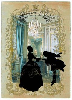 *Collage, sillouette, Marie Antoinette