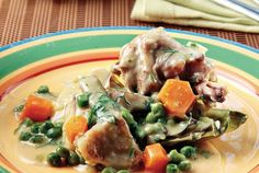 Κατσικάκι φρικασέ µε λαχανικά Venison, Lamb, Goats, Food To Make, Greek, Snacks, Chicken, Breakfast, Cook