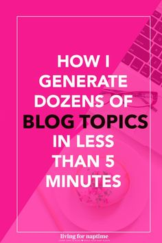 Got writer's block? Use this simple technique to generate dozens of blog posts for any niche!