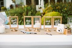 There& no match for the ingenuity of a creative bride with a tiny budget. That& when you get brilliant solutions, like the ten included in this post that use common IKEA marketplace finds to create beautiful DIY wedding details. Wedding Signage, Wedding Menu, Wedding Tips, Trendy Wedding, Wedding Details, Wedding Reception, Wedding Planning, Decor Wedding, Wedding Photos
