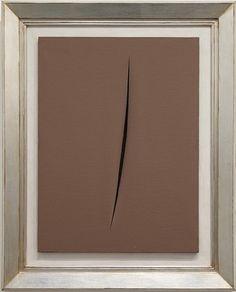Concetto Spaziale de l'artiste Lucio Fontana est actuellement en vente chez Cortesi Contemporary SA.