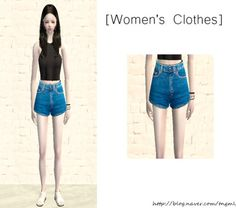 Sims 2 AA Denim shorts MESH is included (by always sims) DOWNLOAD (adfly)
