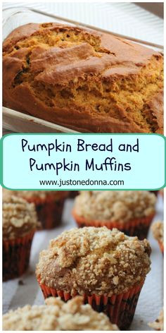 Choose to make either pumpkin bread or pumpkin muffins with this one, yummy recipe. #pumpkinbread #pumpkinmuffins #pumpkinrecipe