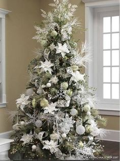 Green and White Christmas Trees | Stay At Home Mum