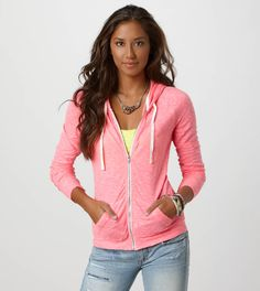 Your starts with the perfect T-shirts. From scoop neck and V-neck silhouettes to bold colors and a variety of fits, American Eagle Outfitters has Women's T-shirts for every outfit. Hang Ten, Womens Clearance, American Eagle Men, Mens Outfitters, T Shirts For Women, Clothes For Women, Zip Hoodie, Lounge Wear, Hooded Jacket