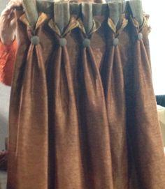 Unique details on goblet pleated drapes