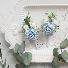 White Boutonniere, Hydrangea Boutonniere, Groomsmen Boutonniere, Wedding Boutonniere, Dusty Rose Wedding, Dusty Blue Weddings, Blue Wedding Crowns, Wedding Flowers, Groomsmen Wedding Photos