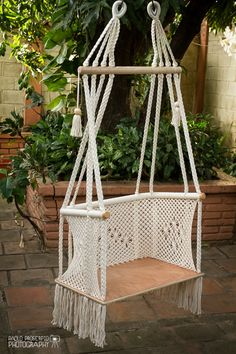 Handmade Macramé Adult Chair by HangAHammock on Etsy https://www.etsy.com/listing/162097034/handmade-macrame-adult-chair