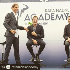 ICYMI...Rafa opened an academy & honored his longtime rival and friend, Roger who was there to support him! So much love, it's hard not to adore these two champions!  #rafaelnadal #rogerefederer #rafa #fed . #Repost @rafanadalacademy with @repostapp ・・・ @RogerFederer, the President of #Telefonica, #JoséMAlvarezPallete and @RafaelNadal at the inauguration of the #RafaNadalAcademy