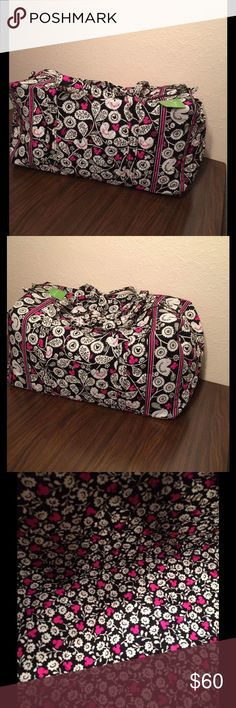 Vera Bradley Mickey Meets Birdie Large Duffel NWT Vera Bradley Large Duffel NWT. It has long straps and a slip in pocket on the end. Zippered closure. This comes from a smoke free and pet free home! Vera Bradley Bags Travel Bags