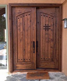 Home Decorators Lighting Collection Key: 5747507268 Wooden Front Door Design, Wooden Front Doors, Rustic Doors, Wooden Double Doors, Wood Entry Doors, Double Front Doors, Iron Doors, Entrance Doors, Mexican Hacienda