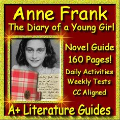 Free up your time with Anne Frank: The Diary of a Young Girl, a 160 page common-core aligned Complete Literature Guide for the novel.  This novel study teaching unit has everything that you will need to teach and assess the novel including questions and answers, weekly quizzes, interactive activities, writing assignments and a final test. The calendar guide explains the skills and activities for the day, and the weekly assessments are Common Core aligned and include all answer keys.