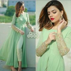Indian Fashion Dresses, Indian Designer Outfits, Designer Dresses, Fashion Clothes, Fashion Outfits, Muslim Fashion, Asian Fashion, Skirt Fashion, Fall Fashion