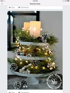 32 Festive Christmas Table Decorations To Brighten Up Your Feast Beautiful Christmas Centerpieces for your Dining Table or coffee table! Noel Christmas, Winter Christmas, Christmas Balls, Christmas Candles, Christmas Ideas, Holiday Ideas, Christmas Music, Christmas Crafts, Christmas Lights Outside