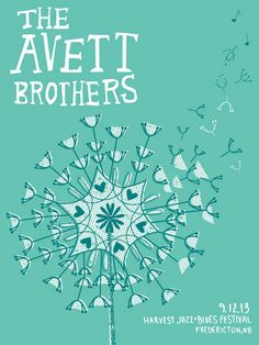 The Avett Brothers: Harvest Jazz & Blues Festival, Fredericton, NB, September by Kat Lamp Concert Posters, Gig Poster, Music Posters, Collage Design, Jazz Blues, My Muse, Graphic Design Posters, Quote Prints, Artsy Fartsy