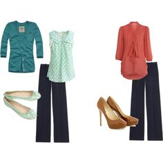 How to Wear: Navy Pants | BlogHer