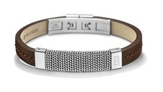 Tommy Hilfiger Jewelry Herren-Armband Casual Edelstahl Leder. Schwarz, (Amazon DE)