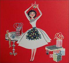 1950s christmas card | 1950s Christmas Card Hallmark | Explore 1950sUnlimiteds pho ...