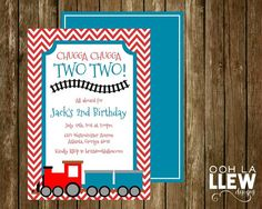 Chugga Chugga Two Two Train 2nd Birthday Party by OohLaLlew