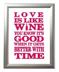 Wine Quote/  Etsy.
