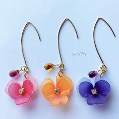 Shrink Plastic Jewelry, Plastic Earrings, Cute Earrings, Bead Jewellery, Resin Jewelry, Jewelry Crafts, Jewelery, Handmade Beads, Handcrafted Jewelry