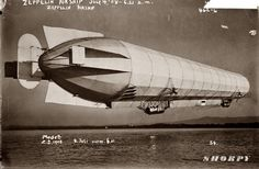 Shorpy Historical Photo Archive :: Zeppelin in Flight: 1908