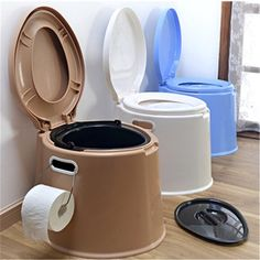 Meigar Portable Toilet Potty Commode Flush for the Elderly Travel Camping Hiking Outdoor Indoor,Assists Disabled, Elderly or Handicapped,Large Image 1 of 10 Douche Camping Car, Camping Potty, Camping Glamping, Camping Stove, Camping And Hiking, Camping Hacks, Hiking Outdoor, Camping Guide, Diy Camping