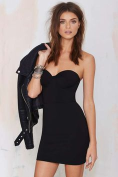 Nasty Gal Heartless Knit Dress - Black - Going Out | Body-Con | LBD | Solid | Dresses