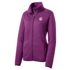 GHC Women's Sweater Fleece Jacket   GreenHouseClothing