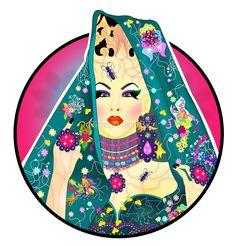 Violet Chachki Illustration