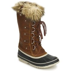 Snow boots Sorel JOAN OF ARCTIC PREMIUM Cappuccino / Blue / Cream / TAN - Free Next Day Delivery with Rubbersole.co.uk ! - Shoes Women £ 159...