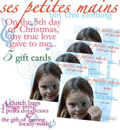 gift cards, Ses Petites Mains tiny chic clothing