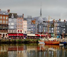 Honfleur, Normandy, France - many happy hours spent watching the world go by around the harbour