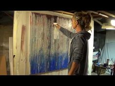 Acrylic Abstract Painting Demonstration - Demo #2/ paintng technique - YouTube