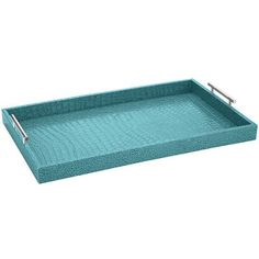 Looks like I'll need a bigger basket when I hit Pier 1 today :)   Faux Croc Aqua Tray