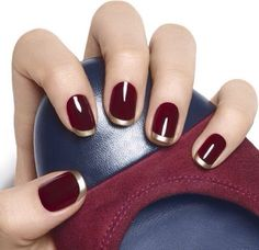 Wine red nails