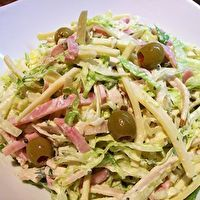 J.L. Hudson Maurice Salad by Julie Greenfield BUT made without the meats - can used veggie meats or just the eggs and cheese