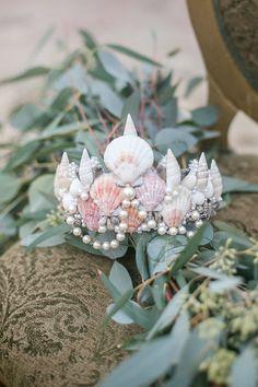 Seashell Crown for a Mermaid Bride  #headpiece #bridalheadpiece #seashells