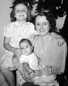 Mary Astor with her children