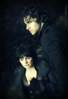 Annabel Scholey and Aidan Turner