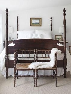 Traditional Mahogany Wood Bed - Bedroom Design Ideas - Country Living
