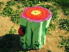 Decorated Tree stump