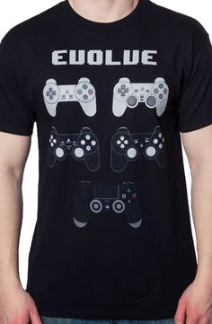 Playstation Controllers T-Shirt: Video Games Playstation T-shirt