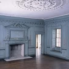unfurnished on purpose, the beauty of the architecture is astonishing...interior of Drayton Hall is a weathered aqua...