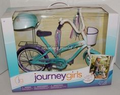"""NEW Journey Girls Bike  Helmet For 18"""" Doll Bicycle Fits American Girl. I have this and I highly recommend it."""